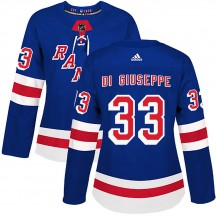 Women's Adidas New York Rangers Phil Di Giuseppe Royal Blue Home Jersey - Authentic