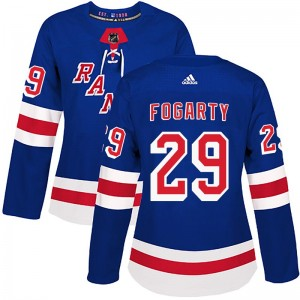 Women's Adidas New York Rangers Steven Fogarty Royal Blue Home Jersey - Authentic