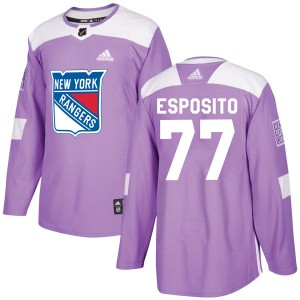 Youth Adidas New York Rangers Phil Esposito Purple Fights Cancer Practice Jersey - Authentic
