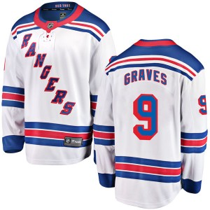 Youth Fanatics Branded New York Rangers Adam Graves White Away Jersey - Breakaway